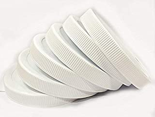 1 Gallon Fermentation Jar Replacement White Polypropylene Caps 110/400 (6, White Poly)