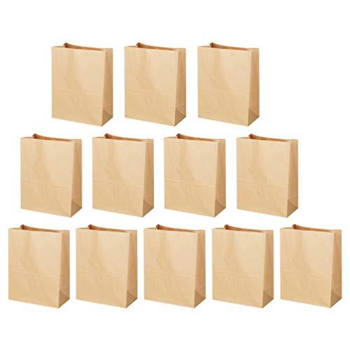 Baluue 50 Stks Papieren Boterhamzakjes Vetbestendig Papier Deli Wrap Bags Voor Gebakken Voedsel Koekjes Broden Snoep Snacks