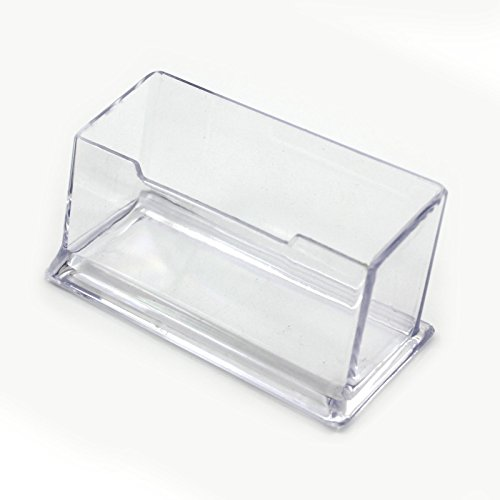 1 Pcs Présentoir à Carte de Visite en Plastique Dur Transparent Compartiment Simple Porte-carte