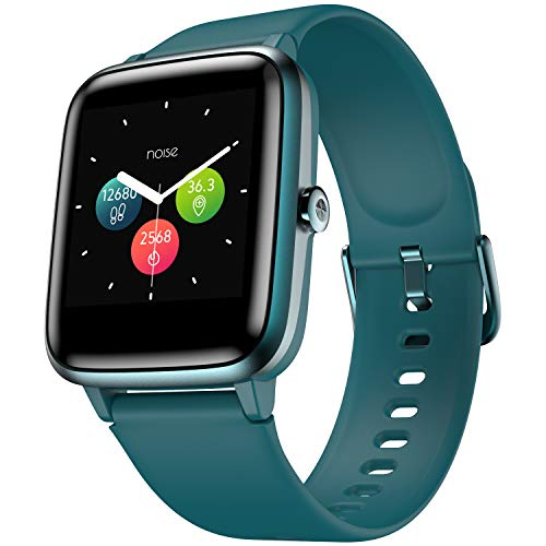 Noise ColorFit Pro 2 Smart Watch with Full Touch Control, 1.3' Color Display, 10 Day Battery, 24x7 Heart Rate Monitoring, IP68 Waterproof, 9 Sports Mode (Teal Green)