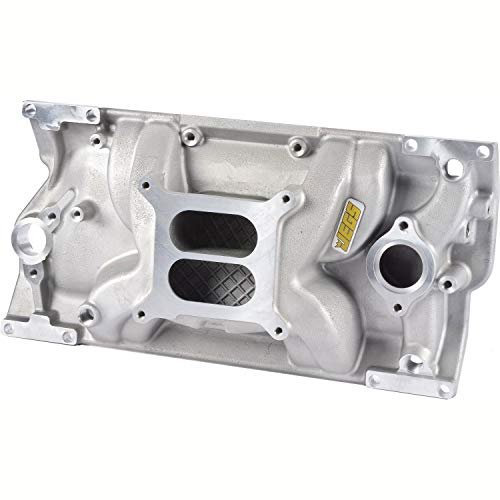 JEGS Small Block Chevy 1996-2002 Intake Manifold | For Use With Vortec Cast Iron Cylinder Heads | Non-EGR Design | Idle - 5500 RPM Power Range | Cast Aluminum | Square Bore Carburetor Mounting Pad