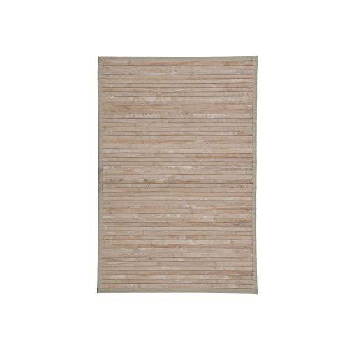 Alfombra Pasillera, Dormitorio o Salón de Madera Bambú(Natural con Efecto Lavado, 60 x 90 cm)