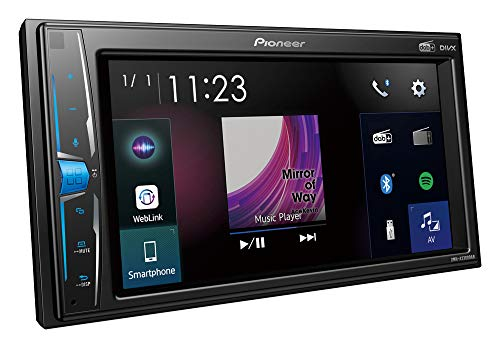 Pioneer DMH-A3300DAB 2-DIN-Multimedia Player, 6,2-Zoll ClearType-Touchscreen, Smartphone-Anbindung, USB, DAB/DAB+ Digitalradio, WebLink, Bluetooth, 13-Band-Grafikequalizer