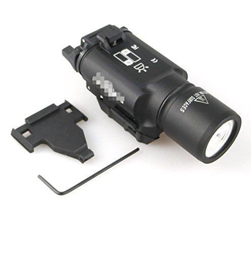 X300 Style Pistolet LED Lumière Haut Sortie Ultra Arme Lumière Lampe de Poche Noir pour Tactique de Chasse Airsoft Picatinny Rail Weaver Monture
