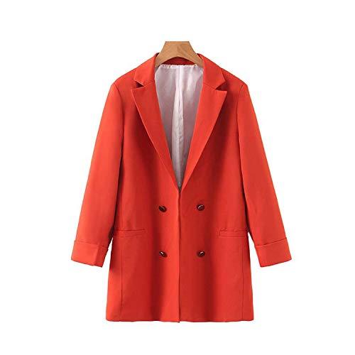 Vintage Office Lady plaid open steek blazer mantel vrouwen gekerfde kraag lange mouwen bovenkleding chique tops