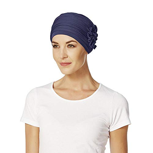 Bonnet turban Lotus - Bleu - Taille Unique