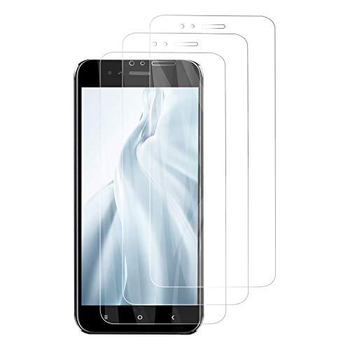 PUUDUU [3 Pack Protector de Pantalla para Xiaomi Mi A1, Sin Burbujas, Anti-Rasguños, HD Transparente,Cristal Templado Protector de Pantalla para Xiaomi Mi A1
