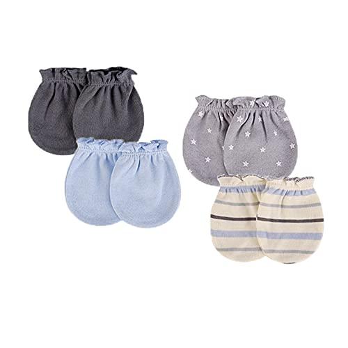Moufles à gratter pour nouveau-né - En coton doux - Unisexe - Pour bébé de 0 à 6 mois
