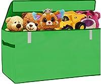 おもちゃオーガナイザー フリップトップ蓋 30インチ 大きなオーガナイザー 女の子や男の子へのギフトコンテナ 多目的 保育園用洗濯物 グリーン