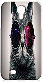 Craftdesign- Cat Get Summer Glass- Hard Plastic Matt Case Full Protection for Iphone (Samsung S4)
