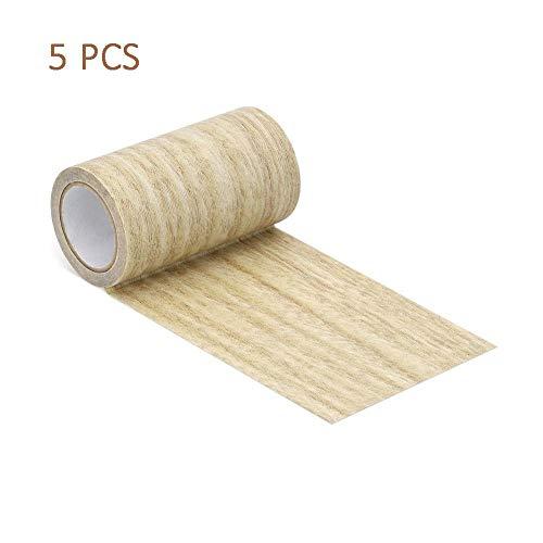 Euopat Meubilair Reparatie Tape, 5 Stks Floor Reparatie Tape Patches Tape Patch Hout Getextureerde Lijm Voor Deur Vloer Tafel En Stoel Voor Houten Vloeren