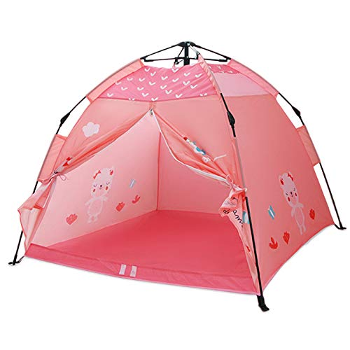 Leeofty Carpa para niños portátil Playhouse Carpa de Camping Plegable Carpa para niños Interior al Aire Libre para niños niñas