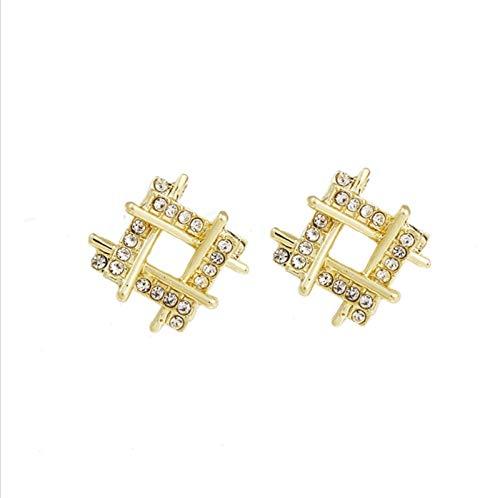 Brush Diamant-namtiger Zirkon-Mode einfache und geometrische Neue süße Ohrringe