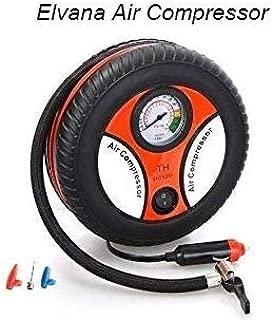 Elvana Portable Electric Mini DC 12V Air Compressor Pump for Car and Bike Tyre Tire Inflator by Elvana