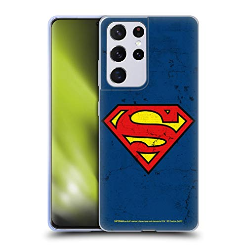 Head Case Designs Officially Licensed Superman DC Comics Distressed Look Logos Soft Gel Case Compatible with Samsung Galaxy S21 Ultra 5G