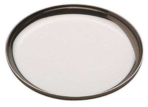 Piazza 474210 - Set di 4 sottobicchieri in acciaio inox, diametro 10 cm