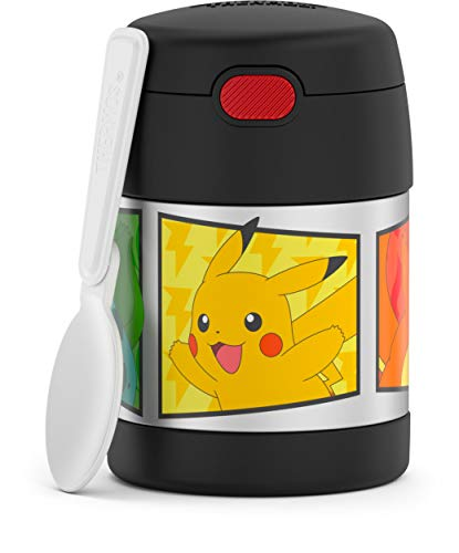 THERMOS Funtainer 283 g de aço inoxidável isolado a vácuo para crianças, Pokémon