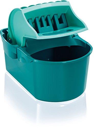 Leifheit Wischtuchpresse Profi Compact mit Henkel, rückenschonender 8 Liter Putzeimer zum Auspressen des Wischmopps ohne nasse Hände, Presse für Bodenwischer wie handgewrungen