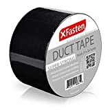 XFasten Super Strength Duct Tape, Black, 3' x 30 Yards, Indoor and Outdoor Duct Tape for School and Industrial Use- Waterproof and Weatherproof