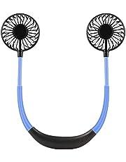 ポータブル扇風機 ハンズフリー 携帯ファン LED USB充電式2000mAh 静音 首かけ 卓上扇風機 携帯扇風機 USB扇風機 風量3段