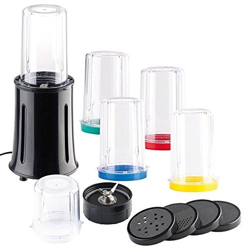 Rosenstein & Söhne Drink Mixer: Kompaktes 17-teiliges Standmixer-Set, 400 Watt (Juice Maker)