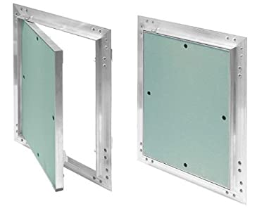 Tapa para revisión GK de 500x600 mm yeso 12,5 mm kral22 pladur Revisión Mantenimiento Puerta 50x60 cm Mantenimiento Tapa de limpieza Mantenimiento Apertura, marco de aluminio Verde menta en seco