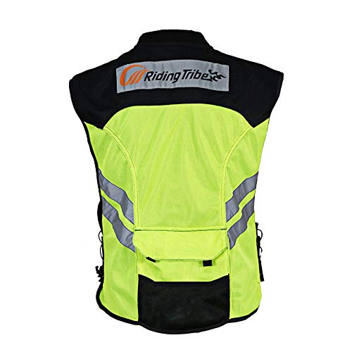 Chaleco reflectante; nuevo diseño; chalecos de seguridad visibles para motocross/carretera/motociclismo/carreras de motos/viajes/paseos nocturnos.