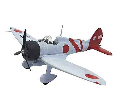 XIUYU Caccia Militare Modello, 1/72 Scala Seconda Guerra Mondiale Zero Fighter plastica Modello e Regalo Edizione da Collezione for Adulti, 7.5Inchx5.9Inch