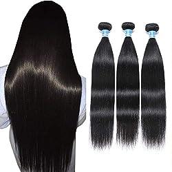 in budget affordable 10A Peruvian Straight Hair 3 Bundle Virgin Human Hair 100% Untreated Peruvian Straight Hair…