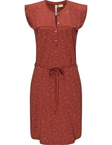 Ragwear Damen Dress Kleid Jerseykleid Sommerkleid Zofka Dress Organic Henna Gr. L