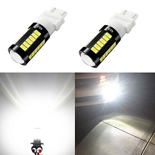 Alla Lighting 2800lm 3156 3157 LED Lights Bulbs Xtreme Super Bright T25 3056 4057 4157 3457K 3057 LED Bulb 5730 33-SMD Dual Back-Up Reverse,Turn Signal,Brake Stop Tail Lights, 6000K Xenon White