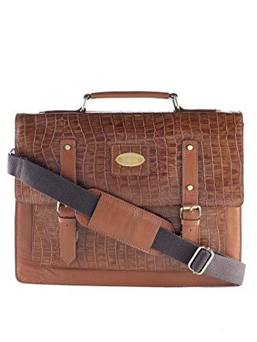 Croco Laptop Single Pocket Briefcase