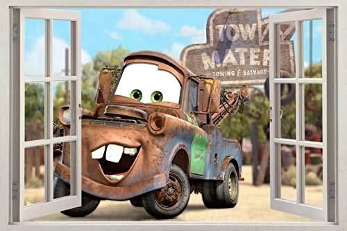 Pegatinas de pared Mater Cars Movie 3D Window Decal Wall Sticker Art Mural