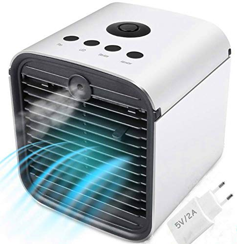 Miaogo Tragbare Klimaanlage Luftkühler 3 in 1 Luftkühler, Luftbefeuchter und Luftreiniger, für Büro, Hotel, Garage, 3 Stufen und 7 Farben LED Nachtlicht (Ohne Stecker)