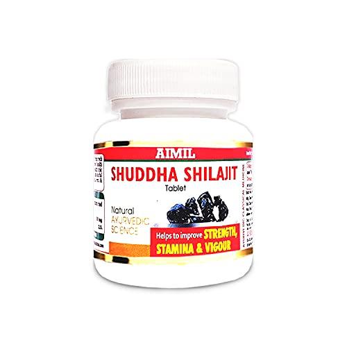 AIMIL Shuddha Shilajit Ayurvedic Tablets for Strength | Stamina and Power | 60 Tablets
