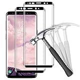 NUOCHENG Panzerglas Schutzfolie für Samsung Galaxy S8 Plus/S8+, [2 Stück] 3D Vollständige Abdeckung HD Panzerglasfolie, [Anti- Kratzer] [Bläschenfrei] [9H Festigkeit] Bildschirmschutzfolie für Galaxy S8 Plus