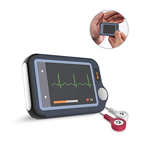 Bluetooth EKG Gerät mit 5 Ableitungen | Wireless Mobiles EKG-Monitor mit APP & PC Software | Herzfrequenzmesser Detektiert Vorhofflimmern, Bradykardie, oder Tachykardie in 30S / 60S / 5Mins