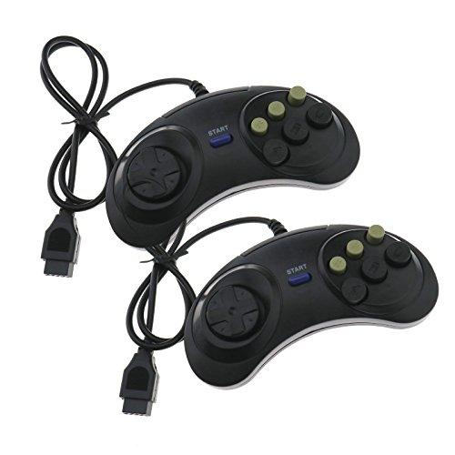 Enet controller di gioco a 6 pulsanti, cablato, joypad di ricambio per Sega Mega Drive & Genesis