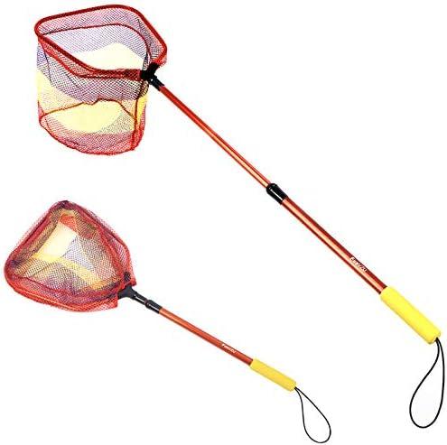 FunVZU Kids Fishing Net Ultralight Telescopic Aluminum Pole Handle with Waterproof Nylon Mesh product image