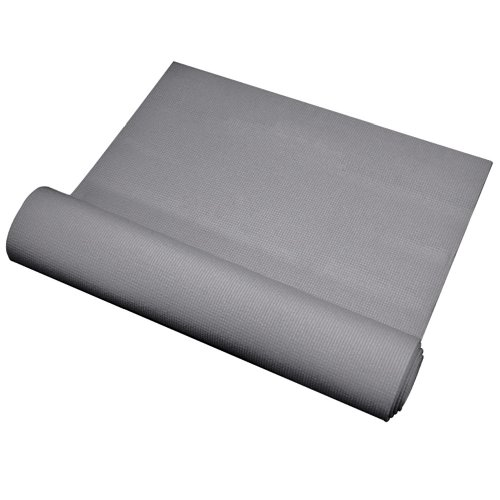 YogaDirect - Tappetino per Yoga, Aderente, 3 mm di Spessore, Cool Grey