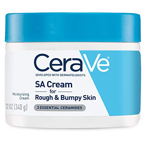 CeraVe SA Cream | 12 Ounce | Renewing Salicylic Acid Body Cream for Rough and Bumpy Skin | Packaging May Vary