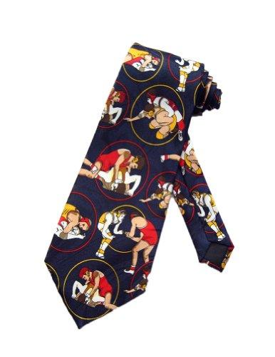 Steven Harris Wrestling Necktie - Navy Blue - One Size Neck Tie