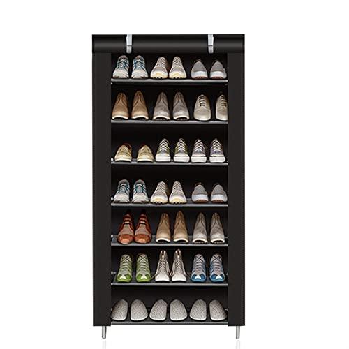 Zapatero Mueble de zapato de múltiples capas de zapatos, tela no tejida, a prueba de polvo, rack extraíble, ahorro de espacio, ahorro de espacio, soporte, auricular, organizador de zapatos. Organizado