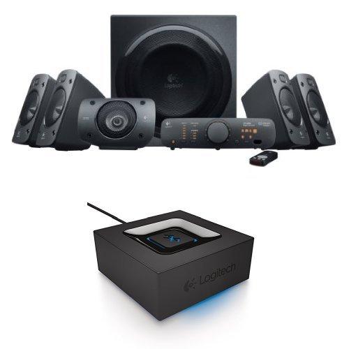 Logitech Z906 Surround Sound Speaker System Bundle with Bluetooth Audio Adapter