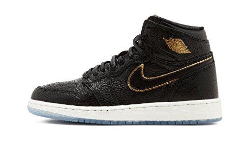 Nike Air Jordan 1 Retro High Og Bg - black/metallic gold-summit whi, Größe:3.5Y