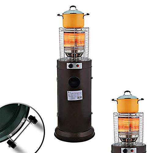 JACKWS Sunlike Outdoor Patio Heater, Multi-Functional Energy-Saving Gas Heater, Heating/Moisturizing/Boiling Water