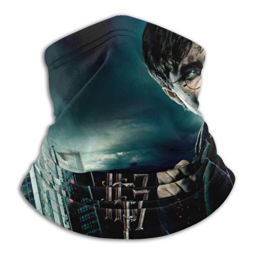 Custom made Harry Potter y las Reliquias de la Muerte para hombre y mujer, calentador de cuello de microfibra elástico para la cara, media máscara, bufanda, bandana para la cabeza