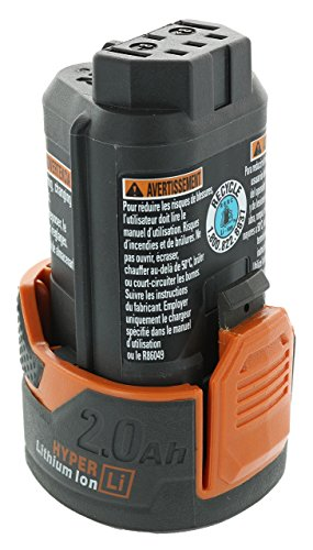 Ridgid AC82049 Genuine OEM Compact Hyper Lithium Ion 2.0 Amp Hour 12V Battery (Renewed)