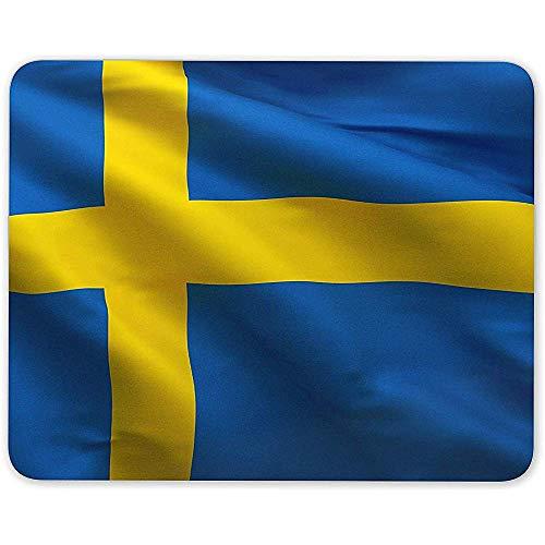 Muismat, Zweeds Vlag Zweden Patriottische Muis Mat Pad - Scandinavische Computer Gift