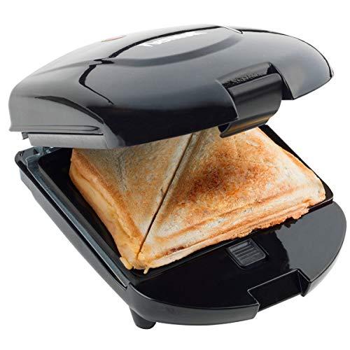 Bestron Antihaftbeschichteter 3-in-1 Sandwich-Toaster, 520 W, Schwarz